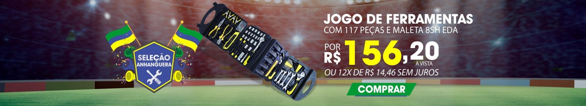 JOGO DE FERRAMENTAS COM 117 PEÇAS E MALETA 8SH EDA