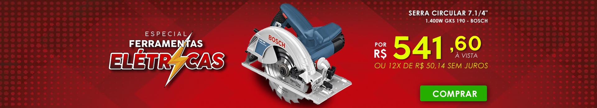 "Serra Circular 7.1/4"" GKS 190 Bosch"