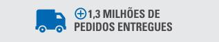 Mais de 1,3 milhões de pedidos entregues