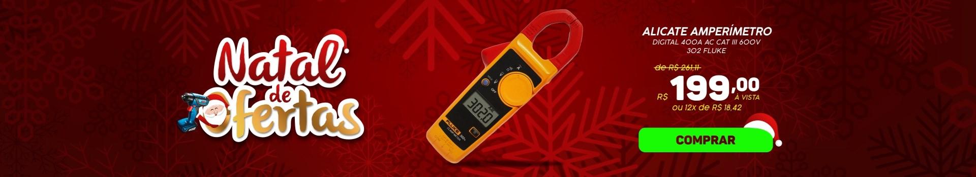 Alicate Amperímetro Digital 400A AC CAT III FLUKE
