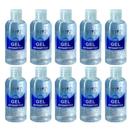 Álcool Gel 70% 60mL 10 Unidades 38661 CLIVÊ