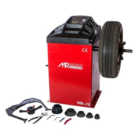Balanceadora de Rodas Motorizada Vermelho MR70 MÁQUINAS RIBEIRO