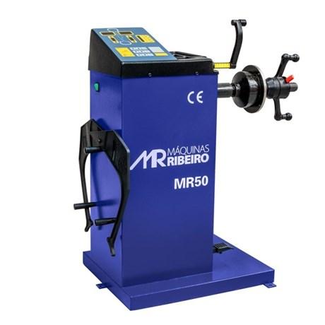 """Balanceadora Manual de Roda Azul 10"""" à 24"""" MR50 Ribeiro"""