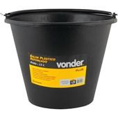 Balde Plástico para concreto Reforçado 12 Litros 3315012100 VONDER