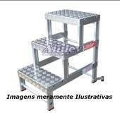 Banqueta Industrial em Alumínio com 2 Degraus BI-401 ALULEV