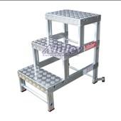 Banqueta Industrial em Alumínio com 3 Degraus BI-751 ALULEV