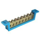 Barramento Neutro com Suporte Azul 8 Ligações 89mm SBN8 STECK