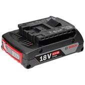 Bateria de Lítio 18V 2.0 Ah com Indicador de Carga GBA 1600Z00036 BOSCH