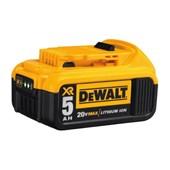 Bateria de Lítio 20V MAX 5.0 Ah com Indicador de Carga DCB205-B3 DEWALT