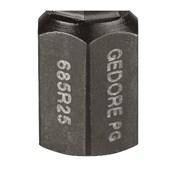 "Bits Hexagonal 2.5mm x 25mm Encaixe 1/4"" Forma C 685R25-2.5"