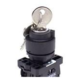 Botão Comutador com Chave T0 Fixa 1-0-2 Plástica 22,5mm SLCG8T0C STECK