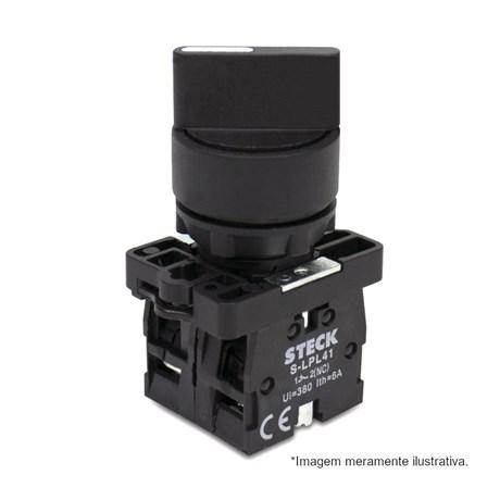 Botão Comutador com Manopla Curta D0 Fixa 0-1 Plástica 22,5mm SLMB8D0 STECK