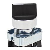 Botão Comutador com Manopla Curta D2 Retorno 0-1 Metálica 22,5mm SLMM8D2 STECK