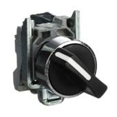 Botão Comutador com Manopla Curta Fixa 0-2 Metálica 22mm 1NA+1NF XB4BD25 SCHNEIDER