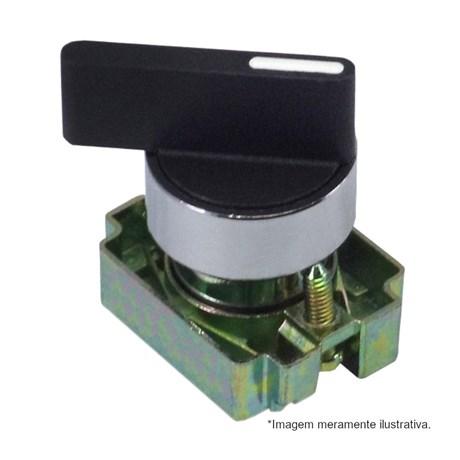 Botão Comutador com Manopla Longa T3 Retorno 1-0-2 Metálica 22,5mm SLLM8T3 STECK