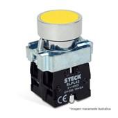 Botão de Impulsão Metálico Amarelo 22,5mm SLMRN3 STECK