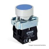 Botão de Impulsão Metálico Azul 22,5mm SLMRN4 STECK
