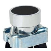 Botão de Impulsão Metálico Preto 22,5mm SLMRN8 STECK