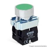 Botão de Impulsão Metálico Verde 22,5mm SLMRN2 STECK