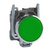 Botão de Impulsão Metálico Verde 22mm 1NA XB4BA31 SCHNEIDER