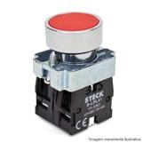 Botão de Impulsão Metálico Vermelho 22,5mm SLMRN1 STECK