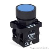 Botão de Impulsão Plástico Azul 22,5mm SLPRN4 STECK