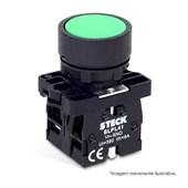 Botão de Impulsão Plástico Verde 22,5mm SLPRN2 STECK