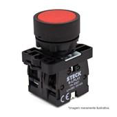 Botão de Impulsão Plástico Vermelho 22,5mm SLPRN1 STECK