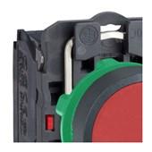 Botão de Impulsão Plástico Vermelho 22mm 1NF XB5AA42 SCHNEIDER