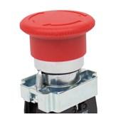 Botão de Retenção Cogumelo Soco Metálico Vermelho 60mm Encaixe 22,5mm SLMFN1R6 STECK