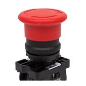Botão de Retenção Cogumelo Soco Plástico Vermelho 30mm Encaixe 22,5mm SLPFN1R3 STECK