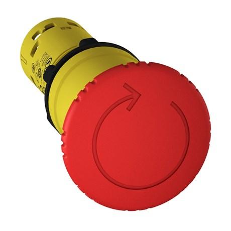 Botão de Retenção Cogumelo Soco Plástico Vermelho 40mm Encaixe 22,5mm XB7NS8442 SCHNEIDER