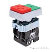 Botão Liga/Desliga Duplo Metálico Saliente 22,5mm SLMDN STECK