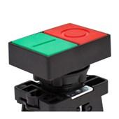 Botão Liga/Desliga Duplo Plástico Faceado 22,5mm SLPDNR STECK