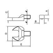 Cabeça Intercambiável Chave Fixa 24 mm - Encaixe 14x18 44513/024 TRAMONTINA PRO