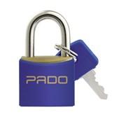 Cadeado de Latão 20mm com Chave Preto SM LT-20 PADO