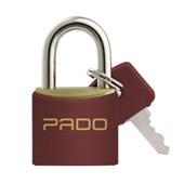Cadeado de Latão 40mm com Chave Vermelho SM LT-40 PADO