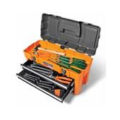 Caixa Plastica Bau 58cm com 3 Gavetas e 31 Ferramentas 44941/031