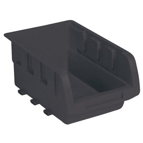 Caixa Plástica Porta-Componentes Preta 5P MARCON