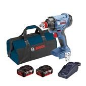 Chave de Impacto 1/2'' 18V 110/220V com Bateria e Carregador + Bolsa de Nylon GDX 18-LI BOSCH