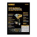 """Chave de Impacto 1/2"""" DCF894B com Bateria 20V e Carregador MAX LI-ION Bivolt e Caixa de Ferramentas DEWALT"""