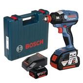 """Chave de Impacto à Bateria 1/2"""" e 1/4"""" 18V 220V com Maleta GDX 18 V-EC BOSCH"""