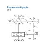 Chave de Partida Direta Trifásica 220V LE1E0.5CV220M7 SCHNEIDER