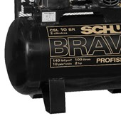 Compressor de Ar 10 Pés 140 PSI 100 Litros 110/220V Monofásico CSL10BR/100L SCHULZ