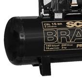 Compressor de Ar 15 Pés 140 PSI 183 Litros 110/220V Monofásico CSL15BR/200L SCHULZ