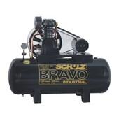 Compressor de Ar 20 Pés 175 PSI 200 Litros 220/380V Trifásico CSL20BR/200 SCHULZ