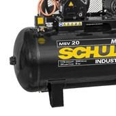 Compressor de Ar 20 Pés 175 Psi 300 litros 220/380V MAX MSV 20/300 Trifásico MTA SCHULZ