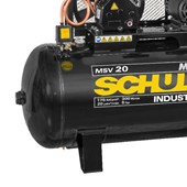 Compressor de Ar 20 Pés 175 Psi 300 Litros 220/380V Trifásico MAX MSV 20/300 MTA SCHULZ