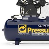 Compressor de Ar 40 Pés 175Lbs 425 Litros 220/380V Trifásico SUPER AR 40/425W PRESSURE