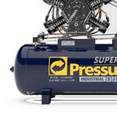 Compressor de Ar 60 pés 175Lbs 425 Litros 220/380V Trifásico SUPER AR 60/425W PRESSURE